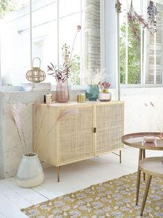 Solid Beech and Woven Rattan Sideboard Solstice Shelf Furniture, Rattan Furniture, Diy Furniture Projects, Deco Furniture, Furniture Styles, Find Furniture, Side Board, Credenza Decor, Deco Buffet