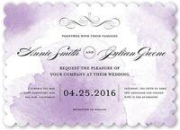 Purple Wedding Invitations | Custom Wedding Invitation | Shutterfly