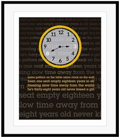 Prince Kiss Heart Song Lyric Quote Print
