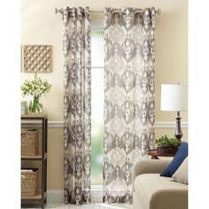 Better Homes And Gardens Ikat Badge Curtain Panel: Decor : Walmart.com