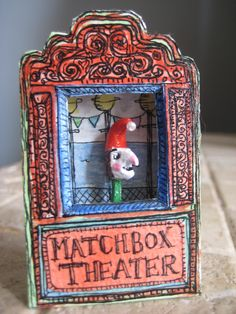 match box Punch and Judy show! i love match book art. Weirdo. i need to look at more images of these.  Hmmm. I want, I want to do!!!