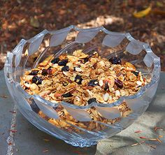 Vanilla Toasted Almond Granola. Sweet, salty, crunchy, healthy, tasty granola. Delicious for breakfast or on for dessert, sprinkled over ice cream • Panning The Globe.