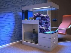 14 Splendid DIY Aquarium Furniture Ideas To beautify Your Home - CueThat diy aquarium furniture stands are an integral part of every aquatic system. The aquarium stand should be sturdy so that it can bear the weight of a filled a. Aquarium Design, 75 Gallon Aquarium Stand, Diy Aquarium Stand, Home Aquarium, Reef Aquarium, Aquarium Fish Tank, Saltwater Fish Tanks, Saltwater Aquarium Setup, Marine Aquarium