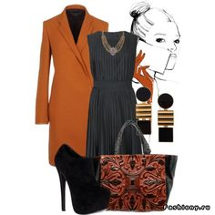 пальто-HAIDER ACKERMANN  платье-Raegan  ботильоны-Steve Madden   сумка-Nada Sawaya