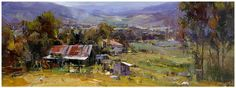 """Ken Knight, Australian artist. Note some areas are delicately blended, while others show an almost """"fractured"""" look."""