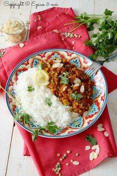 Dal (dhal) de pois cassés à la courge rôtie et aux amandes #végétal #sans gluten
