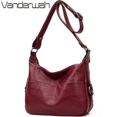 VANDERWAH Winter women leather Top-handle bags handbags women famous brands  female casual shoulder bag Tote for girls SAC A MAIN 0e69ef9d49a