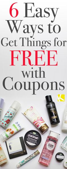 6 Easy Ways to Get Things for Free with Coupons