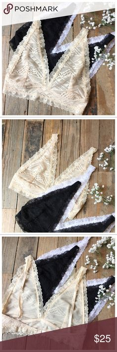 3fbbf7cc1c Nude lace bralette Pretty lace bralette. Adjustable straps and back clip.  100% polyester