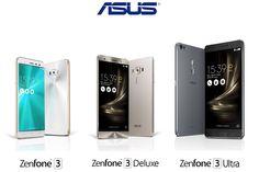 Asus announces Zenfone 3 alongside premium Deluxe and giant Ultra models