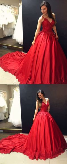 Sexy Long Satin Ball Gowns Prom Dresses Burgundy Prom Dress M2988