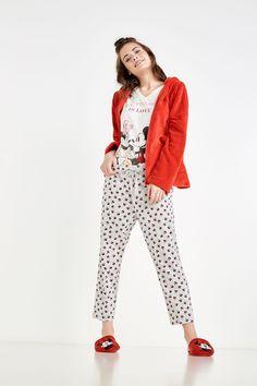Pijama de algodón Mickey y Minnie Mouse | Pijamas largos | Women'secret