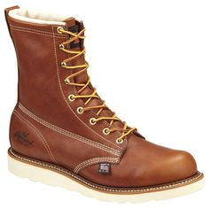 8bd796c75299 Thorogood American Heritage 8 Inch Insulated Wedge Boot 814-4009  240.00  Коричневые Кожаные Сапоги