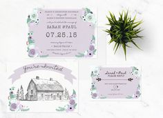 THE COUNTRY SUITE  wedding invitation save by lovelylittledesignco