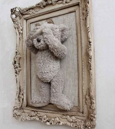 Yes! A spooky old teddy to go on the wall... I think Dennis would love this!