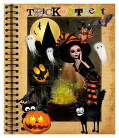 """""""Trick or Treating"""" by reluna ❤ liked on Polyvore featuring art"""
