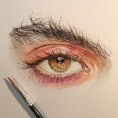 Watercolor Art By Reina Yamada. Reina Yamada is an artist who works actively in Japan and Continue Reading and for more watercolor art → View Website Pencil Art Drawings, Cool Art Drawings, Realistic Drawings, Art Drawings Sketches, Sketch Drawing, Sketching, Watercolor Eyes, Watercolor Portraits, Watercolor Portrait Tutorial