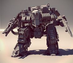 Love this Mech Design - modelled in ZBrush