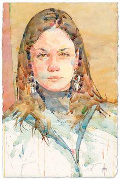 Alyssa   watercolor portrait