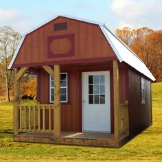 The Derksen Lofted Barn Cabin combines all of the style of our Cabin with the handy and functional overhead lofts of our Lofted Barn. - shed plans with loft. Lofted Barn Cabin, Shed Cabin, Log Cabin Homes, Log Cabins, Small Cabins, Small Log Cabin Kits, Mini Cabins, Diy Cabin, Prefab Cabins