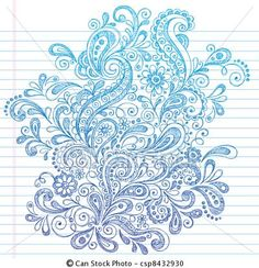 Abstract Henna Paisley Doodle