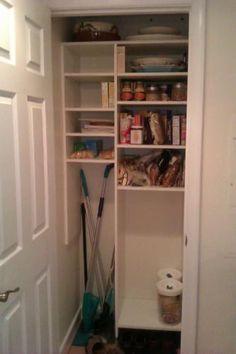 Coat closet to pantry/utility closet