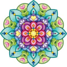 another lovely color screen for a mandala Mandala Art, Mandala Design, Mandala Drawing, Mandala Painting, Mandala Colour, Coloring Books, Coloring Pages, Wal Art, Mandala Coloring