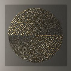 Painting: Deed Modern Geometric Abstract Nordic Decorative Painting, Gold Foil Series Living Room Wall Painting, Bedroom Bedside - The Zedign House - Store Instalation Art, Glue Art, Gold Leaf Art, 3d Wall Panels, Contemporary Abstract Art, Texture Painting, Pour Painting, Painting Process, Process Art