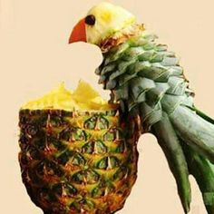 Pineapple parrot, cute and definitely delicious.