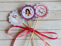 Violetta Cupcake Topper - Violetta Party