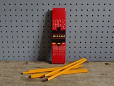 Vintage Eagle Mirado pencils box | from @hisforhome http://hisforhome.com/shop