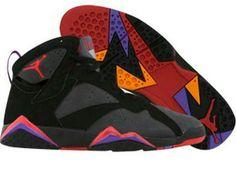 new products afa2e 2245a Air Jordan 7 Retro Black (Noir) Grey (Gris) Varsity Red (Rouge) Purple ( Pourpre)
