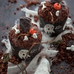 Cupcake di Halloween ovvero graveyard cupcakes