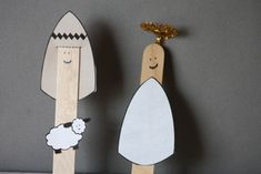 Popsicle Stick Shepherd and Angel Bible Craft for Children from Like a pretty petunia