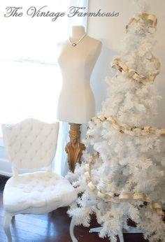 The Vintage Farmhouse white christmas tree