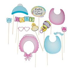 Baby Shower Photo Stick Props (12 Pack) Fun Express http://www.amazon.com/dp/B00XLOCXBQ/ref=cm_sw_r_pi_dp_N0Udwb1CENJZK