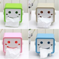 Smiley Face Tissue Box from Enix Fashion on Storenvy