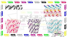 Popotes Puntos #popotes #decoracion #fiesta #straw #party  #etcmx #polkadots https://www.facebook.com/ETCMX