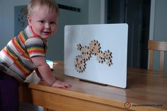 Magnetic Gear Toy - Birch Plywood
