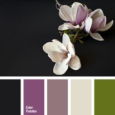 """dusty"" beige, ""dusty"" green, ""dusty"" lilac, beige, black, color combination, dirty green, green, lilac, pink, rich lilac, selection of color, shades of lilac."