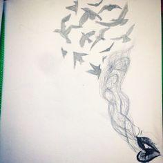 Smoking birds
