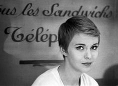 Jean Seberg's hair in Breathless...I think you would look adorable with a pixie cut!