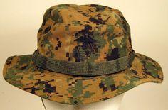 678172a42a53b USMC Marine Corps MARPAT Woodland Boonie Hat Cap Cover W  EGA Us Marine  Corps