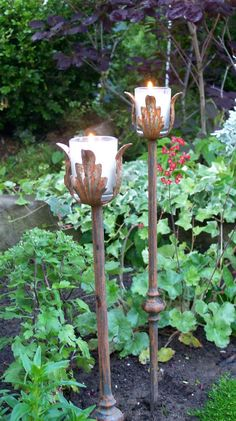 Garden Stakes Candle Holder