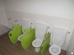 Séparations Daycare Design, Classroom Design, Classroom Decor, Toddler Daycare Rooms, Home Daycare, Kindergarten Interior, Kindergarten Design, School Bathroom, Bathroom Kids