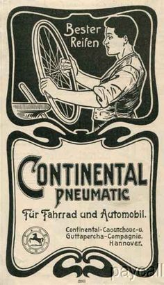 Continental Pneumatic ad from 1903. Best tires. #continental #continentaltire #tires #1900s #vintagead