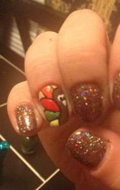 turkey nails .  Aren't these the cutest?