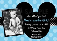 Mickey Mouse Birthday Invitation Mickey by TheTrendyButterfly, $13.00