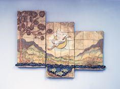 Heron in Triptych