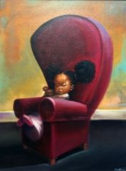 "Frank Morrison ""No"" Oil on Canvas http://www.shorthaircutsforblackwomen.com/natural-hair-style_pictures/"